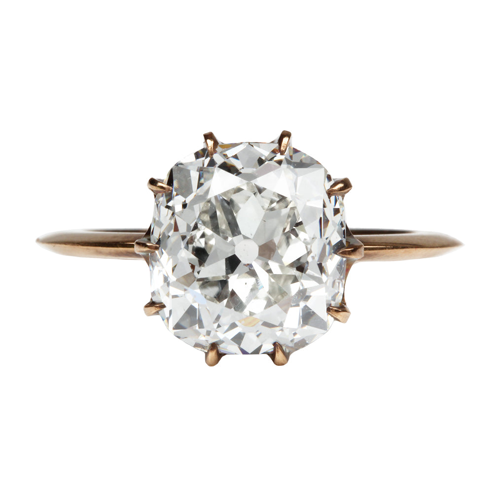Custom Cushion Cut Diamond Ring