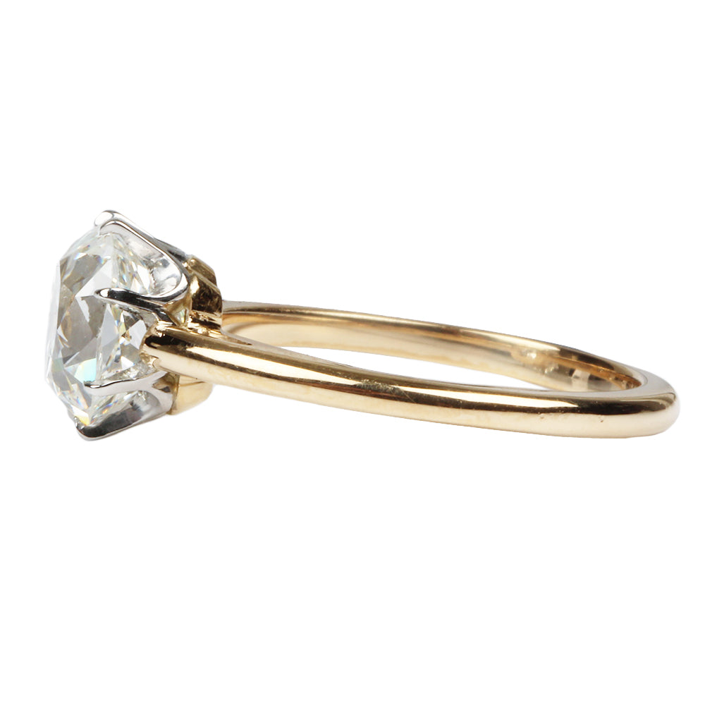Scalloped 8-prong Solitaire Old Mine Cut Diamond