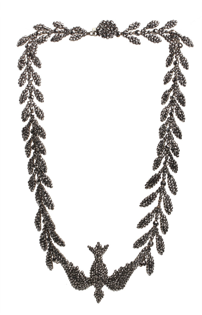 Early 19th Century Cut Steel Bird Necklace
