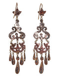 19th Century Cut Steel Chandelier Earrings