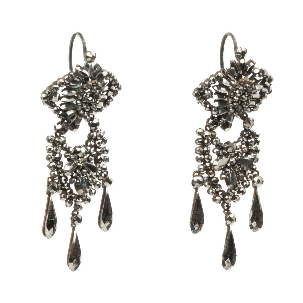Victorian Era Cut Steel Earrings