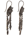 Cut Steel Chandelier Earrings