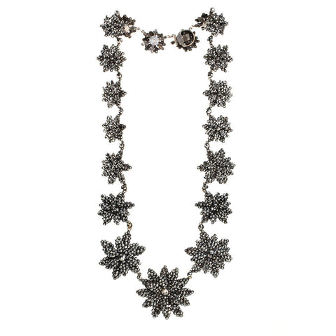 Victorian Cut Steel Flower Necklace