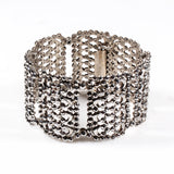 Cut Steel Bangle Bracelet