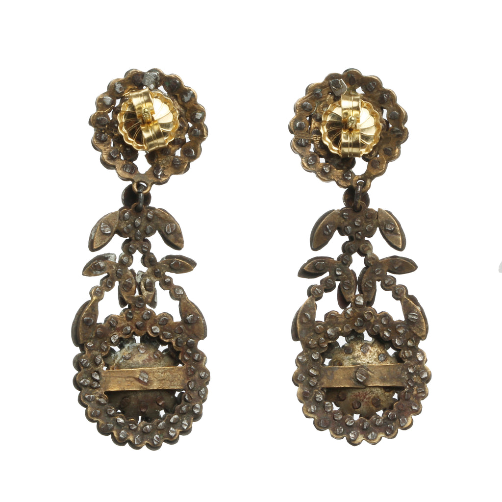 Early Victorian Cut Steel Earrings