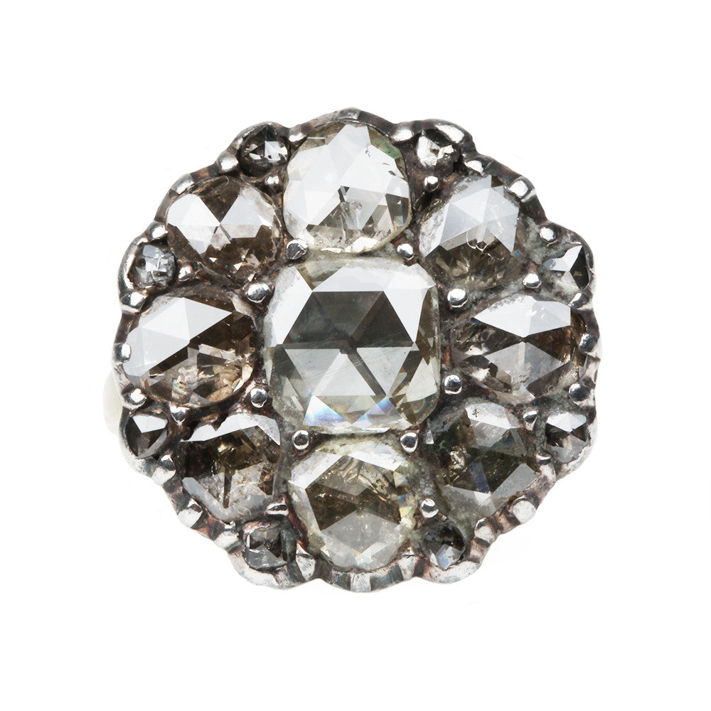 18th Century Italian Diamond Cluster Ring