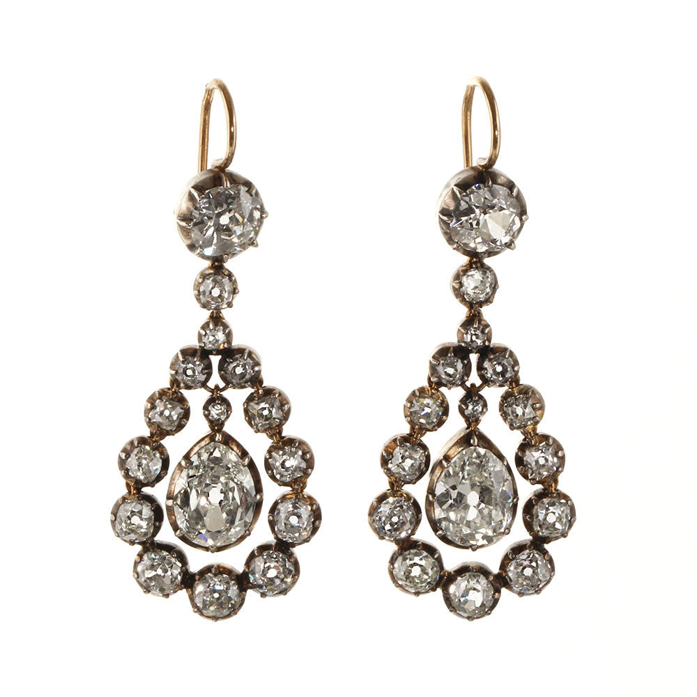 Fine Victorian Diamond Earrings