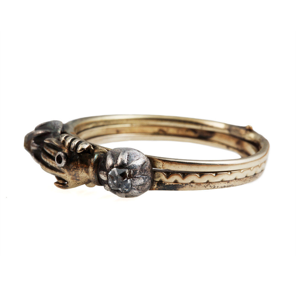 Early 19th Century Diamond Gimmel Ring