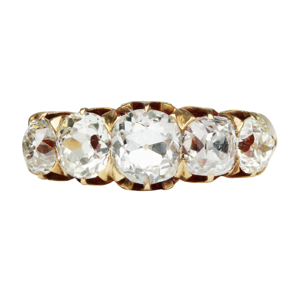 Victorian 5-Stone Diamond Ring