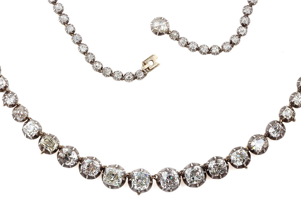 Victorian Era Diamond Rivière Necklace