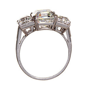 Art Deco Asscher Cut Diamond Ring