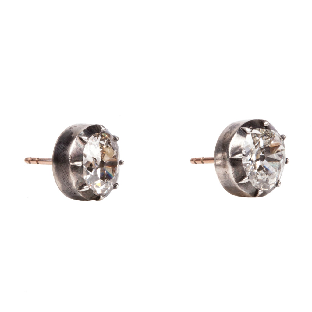 Old Mine Cut Diamond Earring