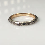 Georgian Rose Cut Diamond Eternity Band