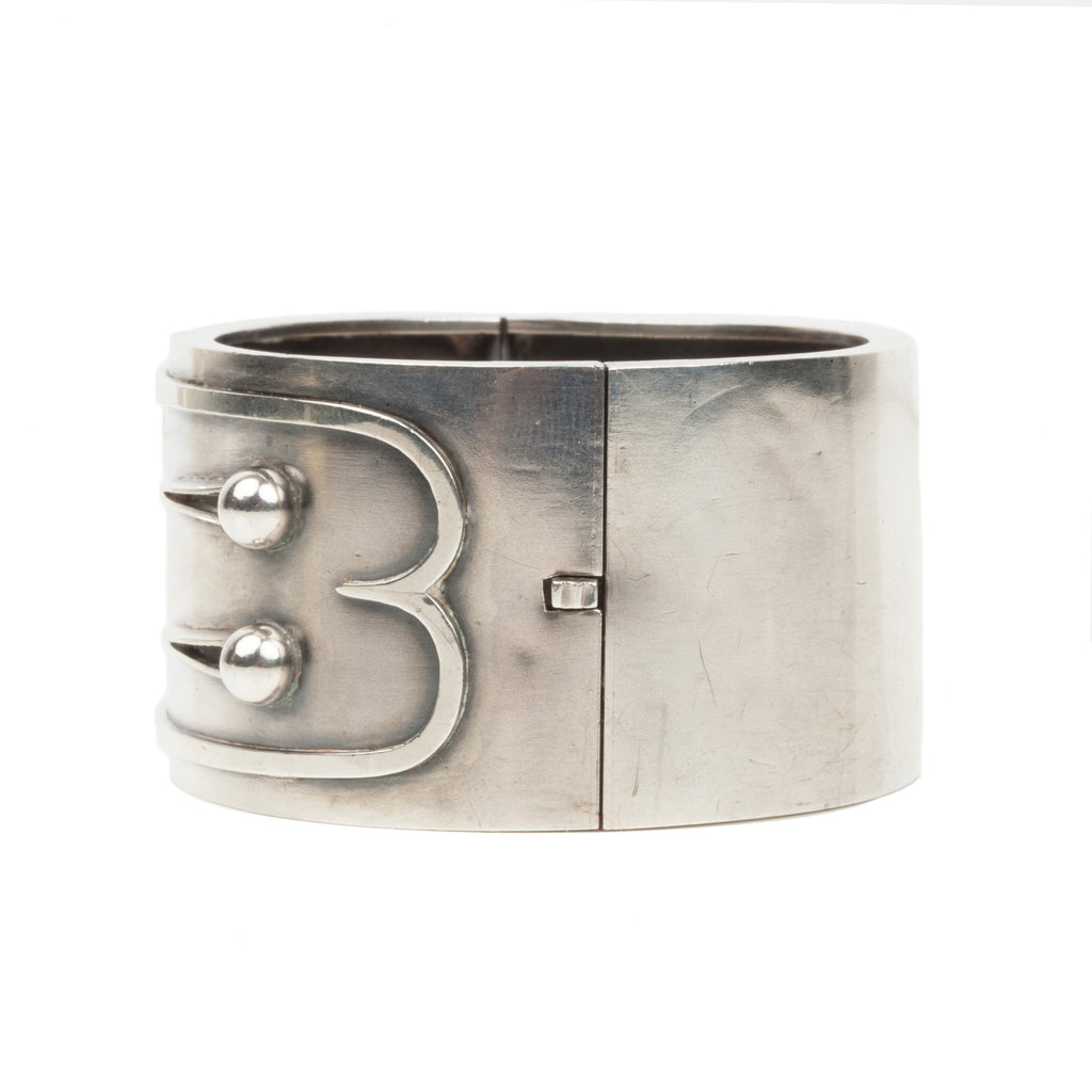 Victorian Era Sterling Button Bangle