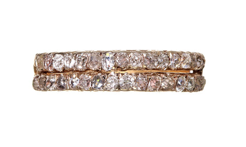 Early 19th Century Rose Cut Diamond Double Row Band
