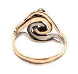 Silver and Gold Snake Ring