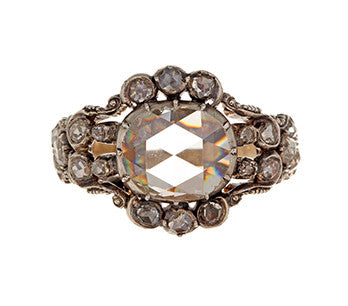 Early Dutch Rose Cut Diamond Ring
