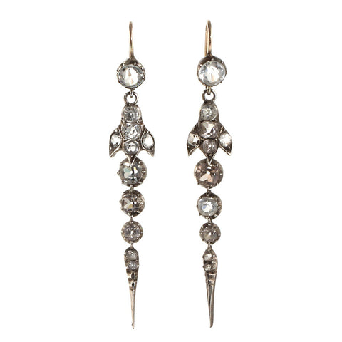 Victorian Paste En Pampille Earrings