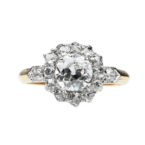 Edwardian Old European Diamond Cluster Diamond