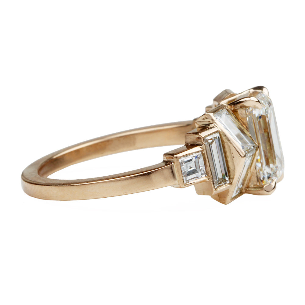 Custom Emerald Cut Diamond Ring