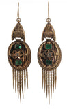Emerald and Diamond Fringe Earrings