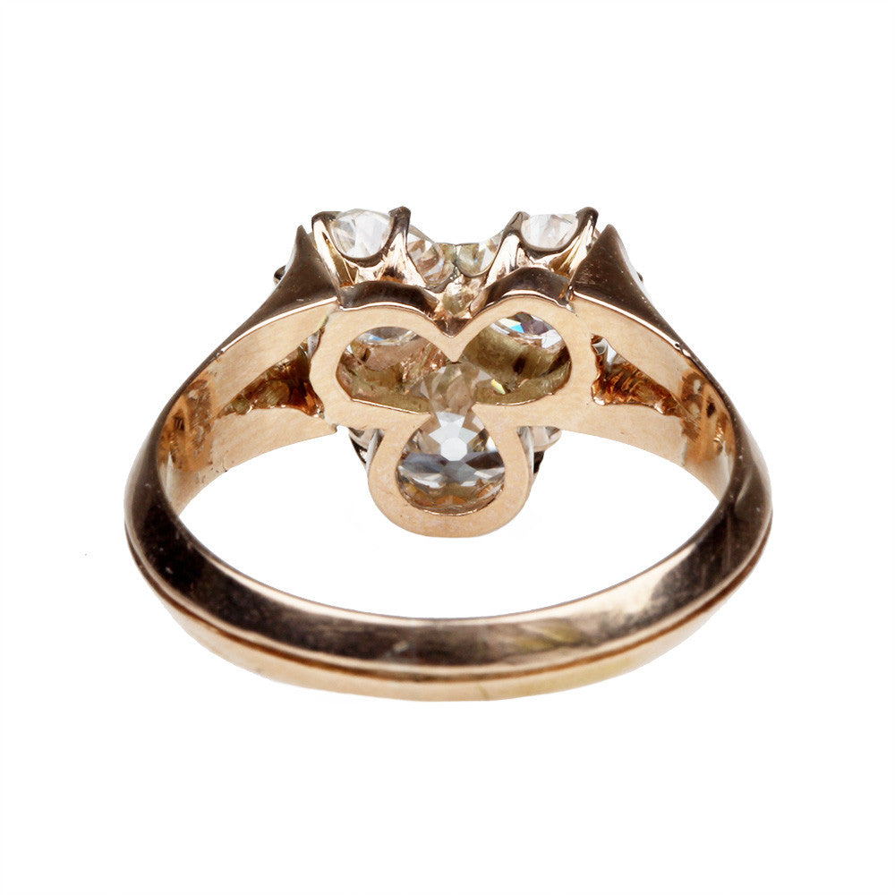 Victorian Trefoil Diamond Ring