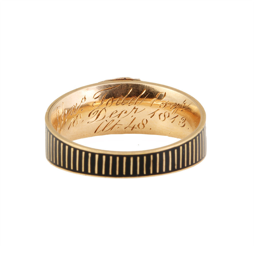 Georgian Enamel Mourning Ring