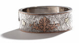 English Sterling & Gold Bangle