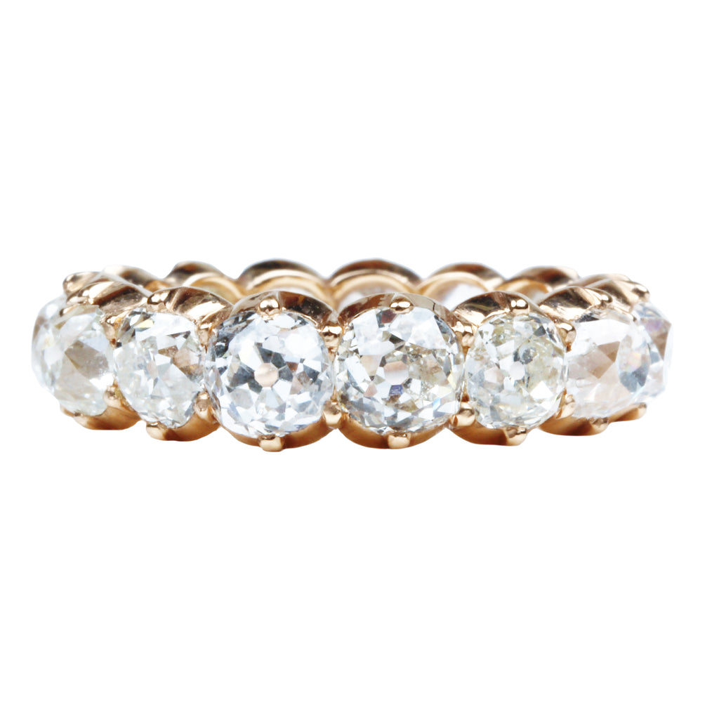 Cut Away Diamond Eternity Band