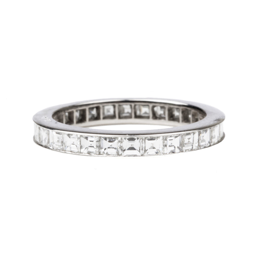 Custom Carre Cut Diamond Eternity Band