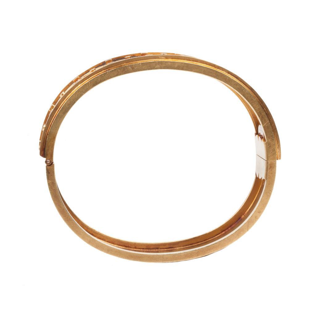 Victorian Era Etruscan Revival Gold Bangle