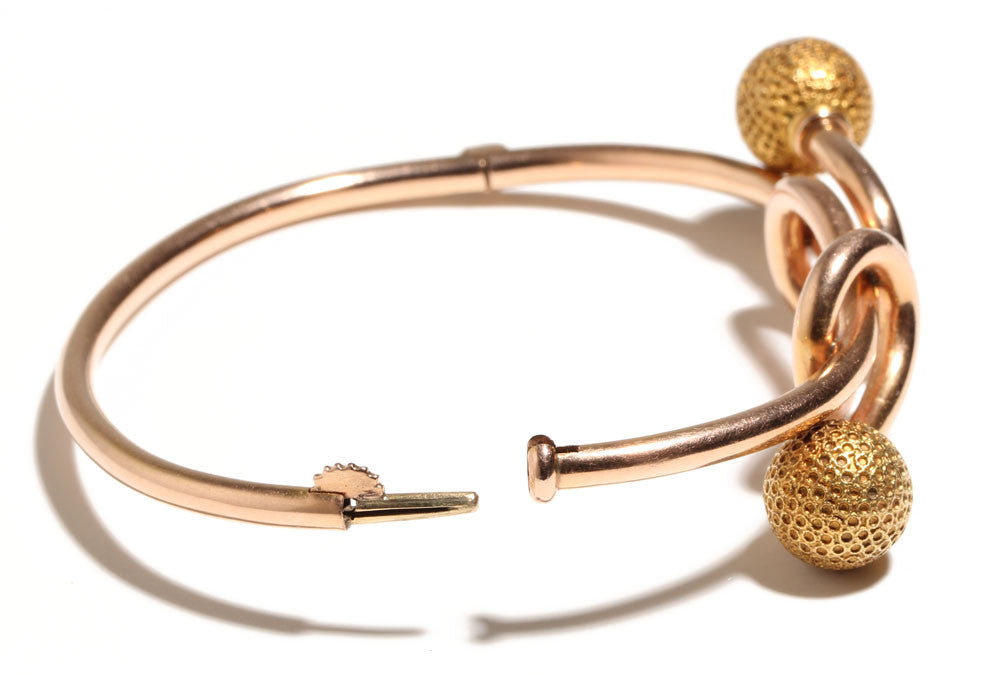 Etruscan Revival Rose Gold Bangle