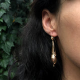 Victorian Gilded Faceted Drop Earrings
