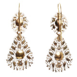 18th Century Filigree Table Cut Diamond Earrings