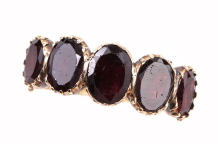 Georgian Flat Cut Garnet Ring