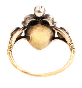 19th Century Flemish Diamond Heart Ring