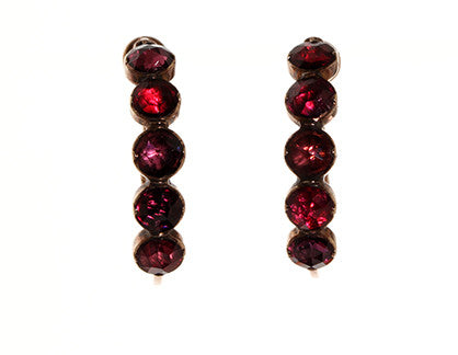 French Perpignan Garnet Earrings