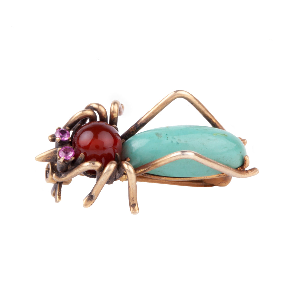 Victorian Era Beetle Brooch