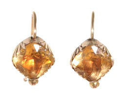 Georgian Citrine Paste Earrings