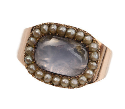 Rock Crystal & Pearls Ring