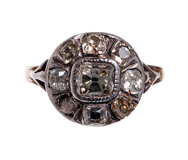 Georgian Diamond Cluster Ring