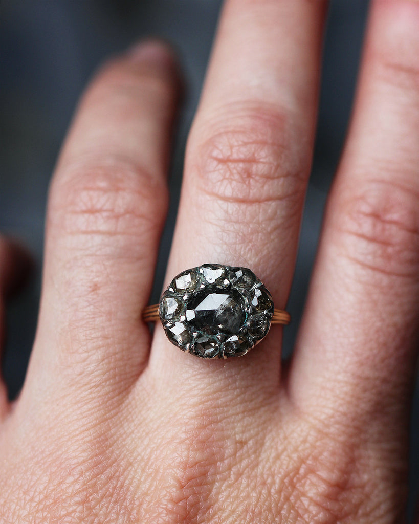 19th Century Diamond Cluster Ring