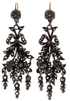 Victorian Naturalistic Diamond Earrings