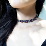 Georgian Amethyst and White Paste Rivière Necklace