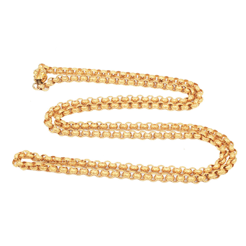 Georgian Era Long Pinchbeck Chain