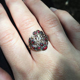 Georgian Garnet Giardinetti Ring