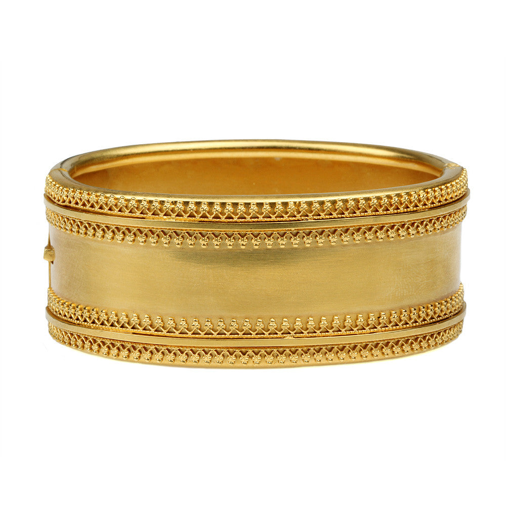 Victorian Gilded Etruscan Revival Bangle