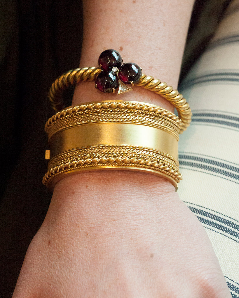 Victorian Gilded Bangle Bracelet
