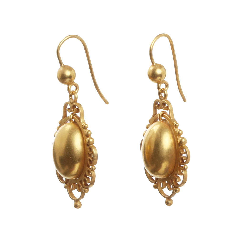 Victorian Era Gilded Earrings
