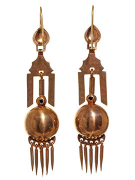 Victorian Gilded Gold Tassel Earrings